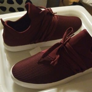 Size 12 maroon slip on shoes